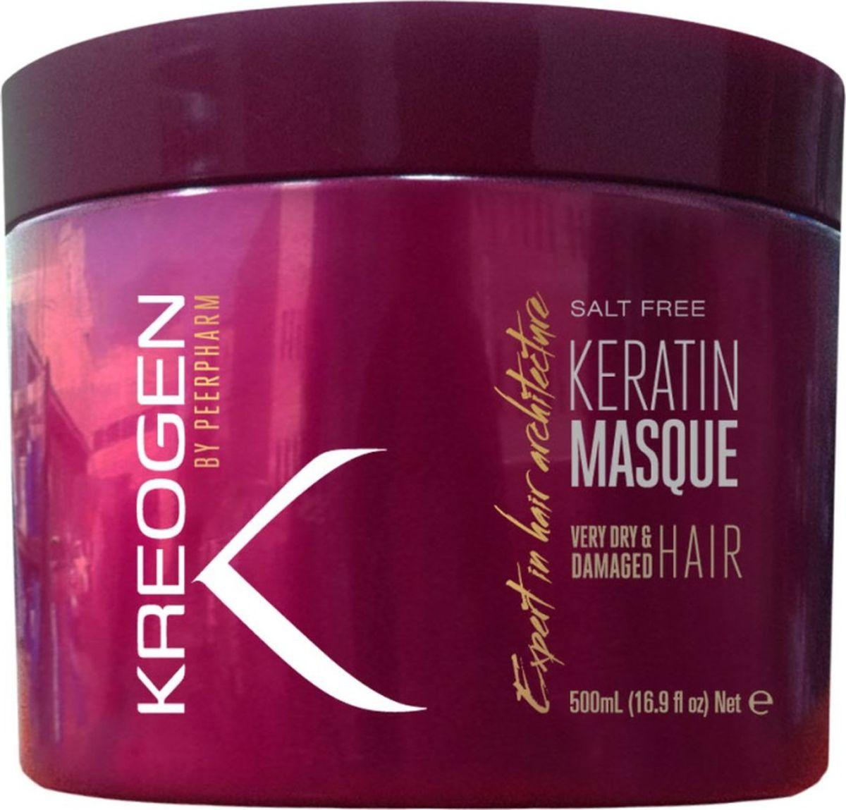 Kreogen Бессолевая кератиновая маска для сухих и поврежденных волос, Kreogen, 500 млKr2025Основной активный ингредиент косметики Kreogen - кератин - чрезвычайно сильный протеин, основной компонент структуры волос.- питательная маска с комплексом масел для восстановления жизненных сил, блеска и структуры волос;- масла арганы и миндаля отлично усваиваются волосами, что обеспечивает им мягкость и опрятность по всей длине сразу же после применения;- можно использовать до 3 раз в неделю на всю длину волос + на очень сухие и ломкие кончики каждый раз после мытья волос.