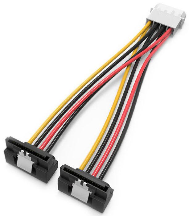 Vention MOLEX 4pin M/SATA 15pin F, Black кабель-переходник (0.15 м) f04227 ide molex to 2 serial ata sata y splitter 4 pin hard drive power adapter cable cord