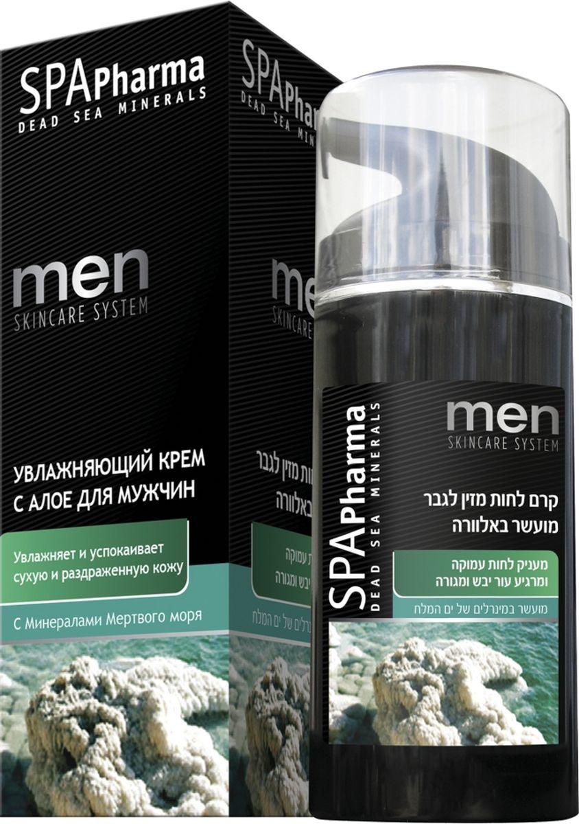 Spa Pharma Увлажняющий крем для лица с алоэ для мужчин, Spa Pharma 100 мл spa pharma увлажняющий дневной крем spf 15 для всех типов кожи spa pharma 50 мл