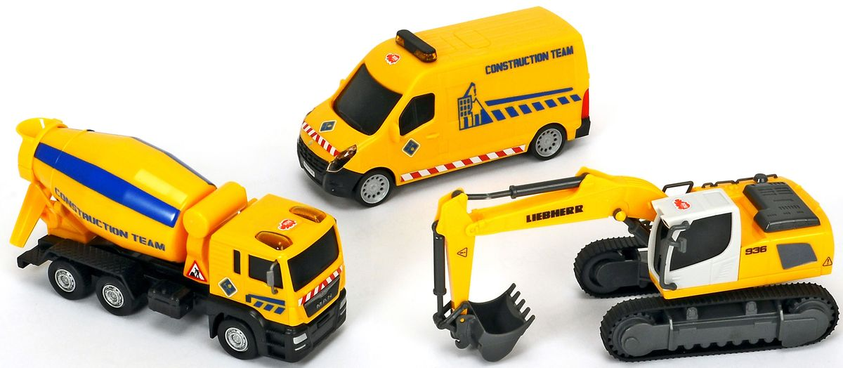 Dickie Toys Набор строительной техники 3 машинки dickie toys игровой набор маяк