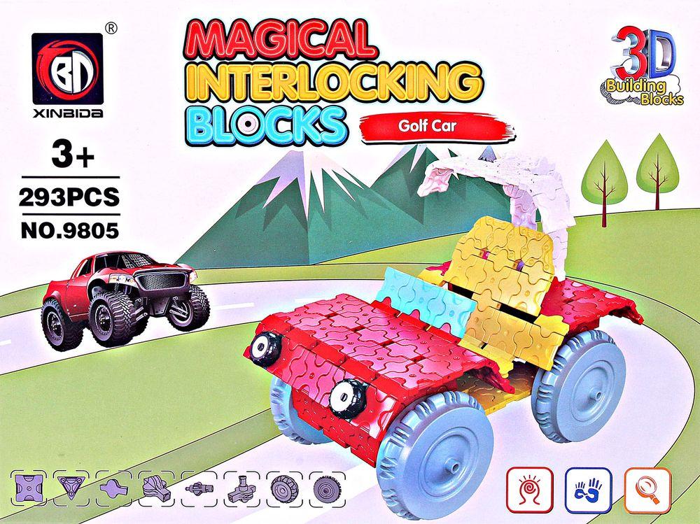 ToyToys Пластиковый 3D пазл Машина