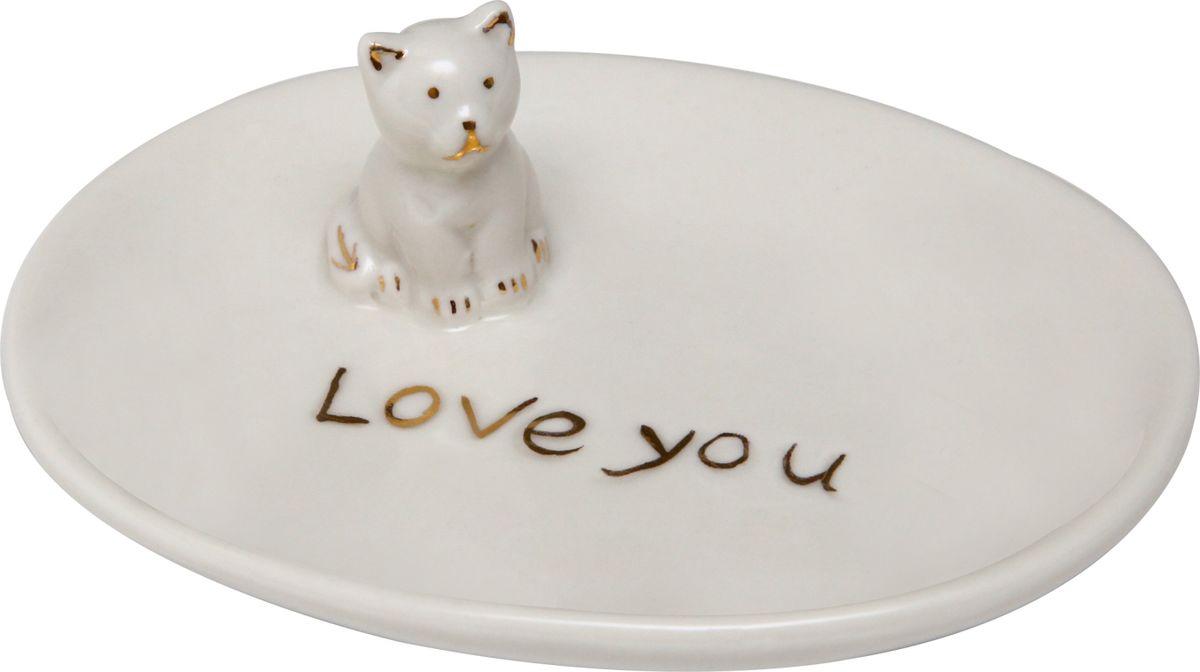 Тарелка декоративная Proffi, цвет: белый, 10,5 х 8 смPH6510Декоративная тарелка Proffi выполнена из глазурованной керамики и украшена фигуркой кошечки. Такая тарелка отлично смотрится в любом интерьере. Так же можно использовать как подставку для колец.