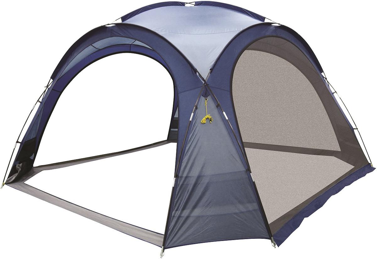 Шатер-тент Trek Planet Event Dome, четырехугольный, 425 х 425 х 235 см, цвет: синий, голубой70261Универсальный шатер четырехугольной формы Trek Planet Event Dome с огромным внутренним помещением, отлично подойдет как для дачи, так и в качестве беседки на природе или вечеринки с друзьями! Съемные двери из москитной сетки со всех 4-х сторон, что позволяет шатру отлично проветриваться, защищая от насекомых. При желании все двери можно свернуть в специальные карманы по углам тента.Особенности шатра:Легко собирается и разбирается,Очень устойчив на ветру,Большие съемные москитные сетки-двери со всех сторон, убирающиеся в специальные карманы,Каркас: прочные дуги из стеклопластика,Вместительный карман для мелочей в каждом углу шатра,Защитный полог на дверях защищает от насекомых,Возможность подвески фонаря в шатре.Палатка упакована в сумку-чехол с ручками, застегивающуюся на застежку-молнию. Размер шатра: 425 см х 425 см х 235 см.Водостойкость тента: 1000 мм.Материал дуг: стеклопластик 12,7/9,5 мм.Размер в сложенном виде: 23 см х 87 см.