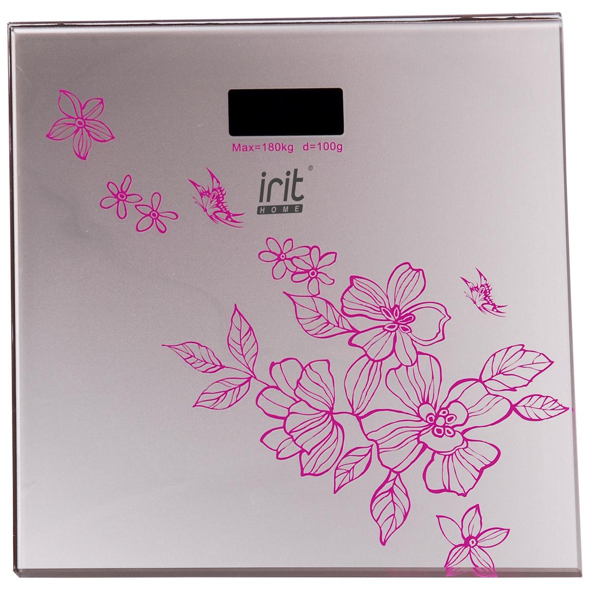 Irit IR-7258 весы напольныеIR-7258Напольные весы Irit IR-7258 пригодятся тем, кто привык следить за своим здоровьем и фигурой. Максимальный вес, на который представленная модель рассчитана, составляет 180 кг, при этом дискретность равна 100 г. Весы являются электронными и работают от литиевой батарейки типа CR2032. Устройство включается при касании автоматически. Отключение происходит после 8 секунд бездействия. Модель оснащена четырехзарядным жидкокристаллическим дисплеем, транслирующим показания.