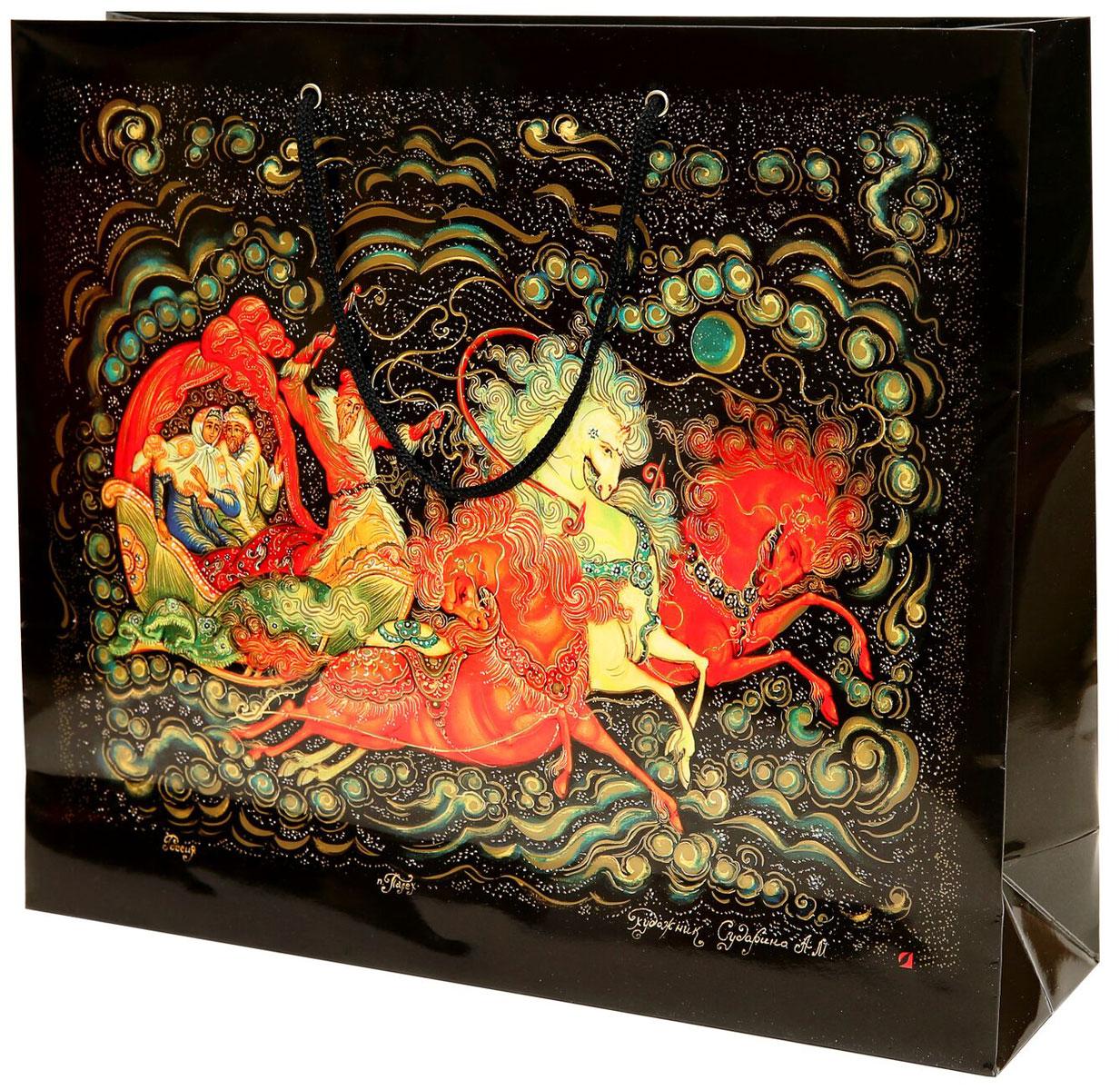 Пакет подарочный Правила Успеха Тройка, 36 x 31 x 10 см4610009214276Тип упаковки: Пакет бумажныйПараметры: 36 х Н 25 х 10 смКрасочность: СМУК (полноцвет)Отделка: Золотая краскаПокрытие: Глянцевое