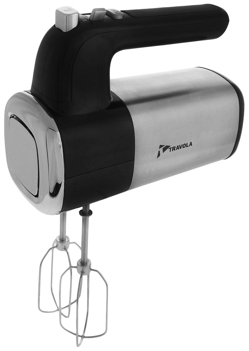 Travola HM1020K-GS миксерHM1020K-GSУдобный миксер Travola HM1020K-GS великолепно справляется с непростыми задачами на кухне. Благодаря наличию пяти скоростей можно быстро и качественно взбивать и смешивать различные типы продуктов. Оснащен режимом Турбо, который, например, подходит для быстрого взбивания заварного теста.Корпус прибора выполнен из прочного пластика, а ножи изготовлены из качественного металла - нержавеющей стали. Силиконовая эргономичная ручка обеспечит удобство в процессе использования.Победитель номинации Лучшая собственная торговая марка в сегменте ONLINE.Премия PRIVATE LABEL AWARDS (by IPLS) -международная премия в области собственных торговых марок, созданная компанией Reed Exhibitions в рамках выставки Собственная Торговая Марка (IPLS) 2016 с целью поощрения розничных сетей, а также производителей продовольственных и непродовольственных товаров за их вклад в развитие качественных товаров private label, которые способствуют росту уровня покупательского доверия в России и СНГ.