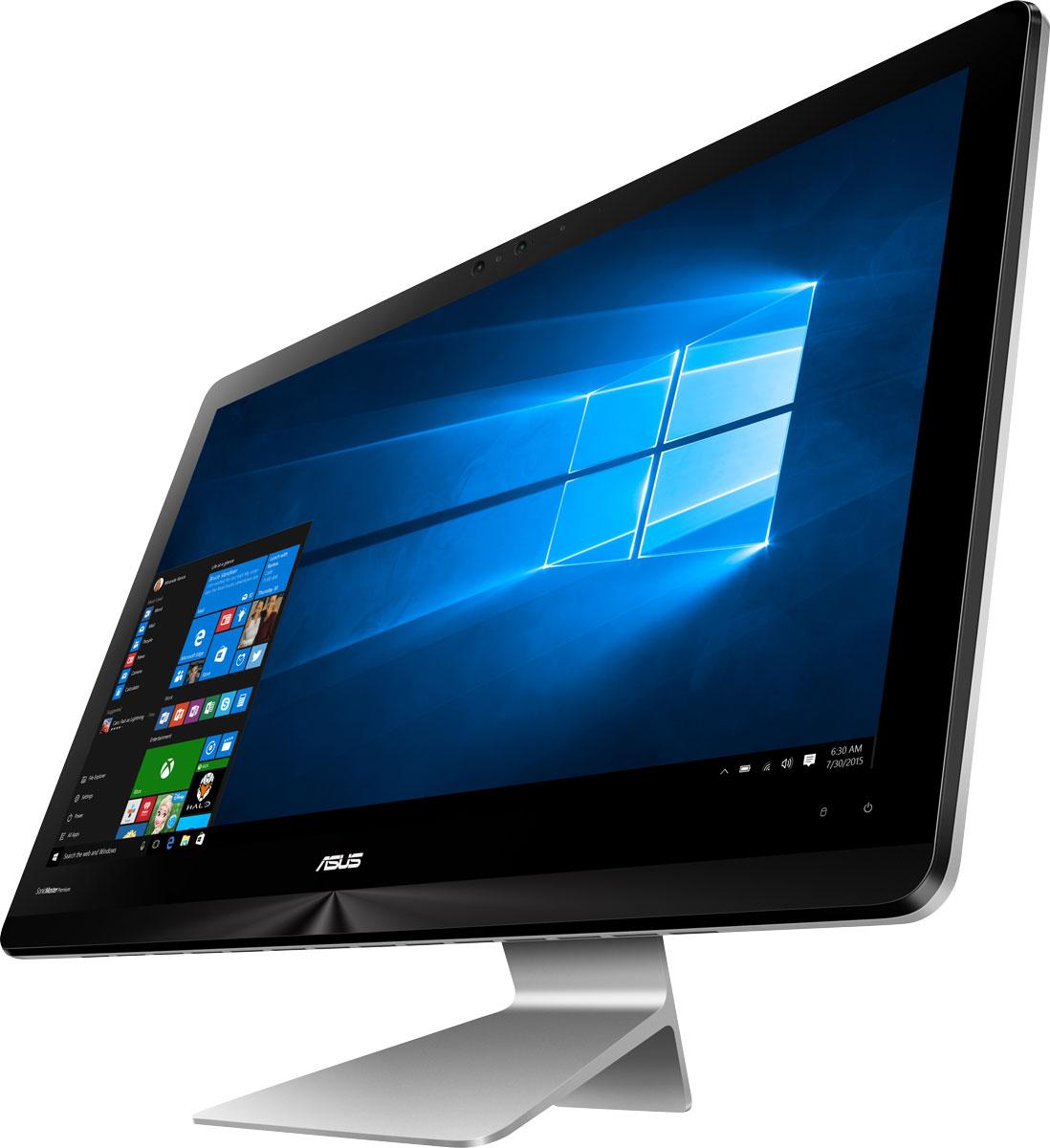 ASUS Zen AiO ZN241ICGK-RA005T, Grey моноблокZN241ICGK-RA005TМоноблочный компьютер ASUS Zen AiO ZN241IC - еще одно доказательство того, что современные технологии могут быть красивыми. Его монолитный корпус в кварцевом сером цвете с оригинальной текстурой поверхности идеально впишется в любой домашний интерьер.ASUS Zen AiO ZN241IC обладает ультратонким экраном со светодиодной подсветкой, обеспечивающим высокую яркость и контрастность изображения. Благодаря широким углам обзора IPS-матрицы картинка на экране моноблока не претерпевает каких-либо искажений цветопередачи при изменении угла, под которым пользователь смотрит на экран. Разрешение Full HD (1920x1080) позволяет наслаждаться играми и фильмами с безупречной четкостью.ASUS Zen AiO ZN241IC может похвастать не только внешним видом, но и великолепной производительностью. Процессор Intel Core i5 последнего поколения, скоростная память DDR4, высокопроизводительная видеокарта NVIDIA GeForce GTX 940MX и самые современные интерфейсы подключения гарантируют комфортную работу в любых программах.Аудиосистема Zen AiO ZN241IC с технологией ASUS SonicMaster Premium включает стереодинамики с общей выходной мощностью 6 Вт, которые обеспечивают богатое и чистое звучание в широком диапазоне частот. Zen AiO создает полноценную звуковую картину, будь то просмотр блокбастера, игра или отдых под музыку.Порт USB 3.0 Type-A, которым оборудован данный компьютер, обладает пропускной способностью до 10 Гбит/с, то есть в два раза более высокой, чем USB 2.0. Для максимального удобства ASUS Zen AiO ZN241IC оснащен четырьмя портами USB 3.0, а также разъемом HDMI для подключения внешнего дисплея.Точные характеристики зависят от модели.Компьютер сертифицирован EAC и имеет русифицированную клавиатуру и Руководство пользователя.