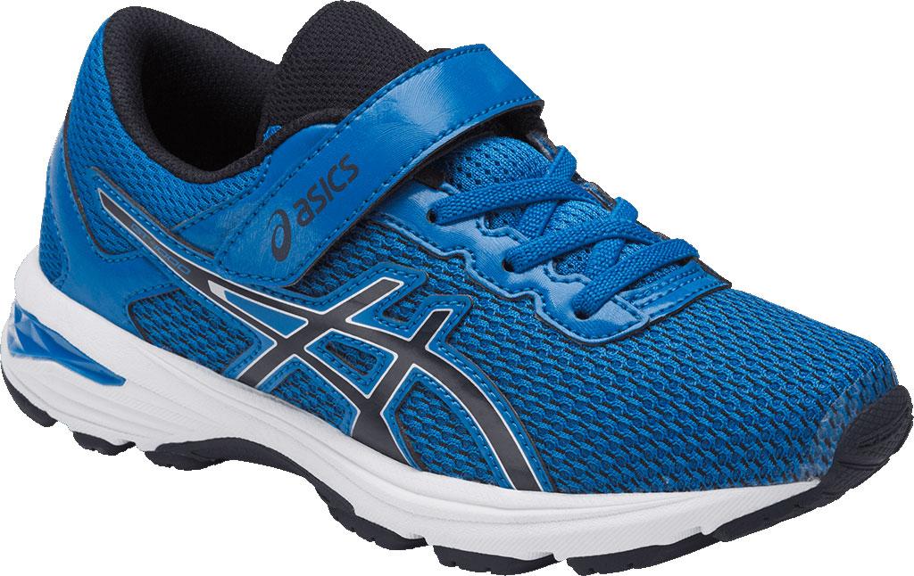 Кроссовки для мальчика Asics Gt-1000 6 Ps, цвет: голубой. C741N-4358. Размер 1 (31)C741N-4358Легкие кроссовки для мальчика Asics Gt-1000 6 Ps покорят вашего ребенка своим дизайном и функциональностью! Верх кроссовок выполнен из специальной дышащей сетки, которая обеспечивает оптимальный микроклимат внутри обуви. Промежуточная подошва из EVA и вставки Asics Gel в пяточной области обеспечивают превосходную поддержку и предохраняют ноги ребенка от усталости. В модели предусмотрена съемная стелька для простоты ухода и дополнительной амортизации. Светоотражающие элементы обеспечат безопасность в темное время суток.