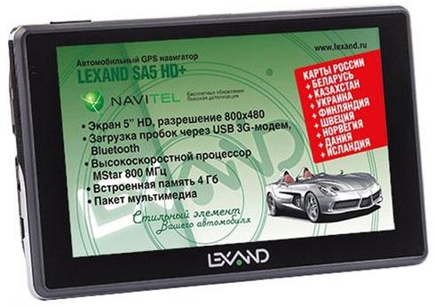 Lexand SA5 HD+, Black GPS навигатор gps навигатор lexand sa5 5 авто 4гб navitel серый