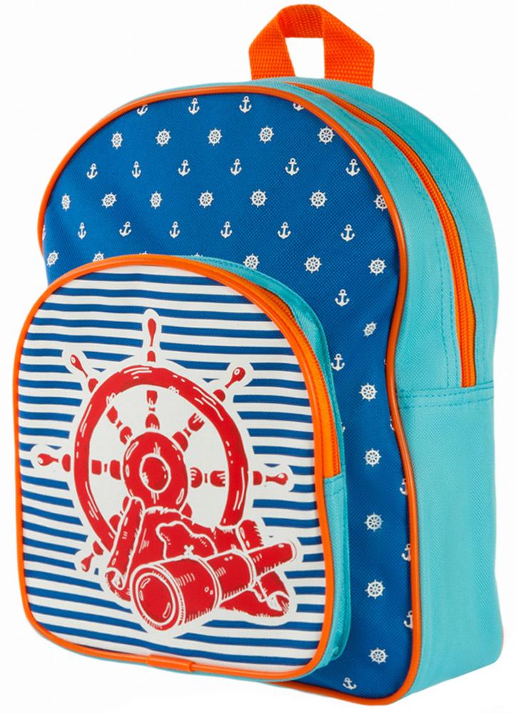 Mary Poppins Рюкзак дошкольный Море 530047530047Рюкзак дошкольный Mary Poppins Море - абсолютно универсальная модель. Он подойдет и маленькому джентльмену, и юной моднице.В рюкзак можно уместить множество полезных вещей: и книжки, и игрушки, и даже небольшие настольные игры! Рюкзак имеет одно основное отделение, которое закрывается на застежку-молнию. На лицевой стороне рюкзака располагается вместительный кармашек на молнии. Рюкзак оснащен лямками регулируемой длины и текстильной ручкой для переноски в руке.