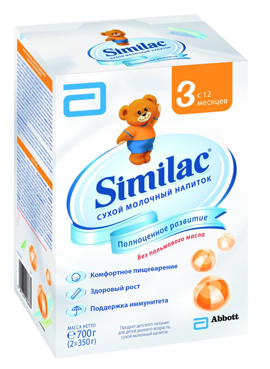 Similak 3 напиток молочный с 12 месяцев, 700 г20027641Сухой молочный напиток для детей раннего возраста без пальмового масла для полноценного развития малыша. Комфортное пищеварениеСодержит пребиотики, способствующие формированию мягкого стулаБез пальмового масла - нежно воздействует на кишечник, способствует формированию мягкого стула и более высокому усвоению кальцияСмесь специально разработана для хорошего усвоения. Здоровый ростСодержит незаменимые жирные кислоты, кальций, витамины и минералы, необходимые для здоровья и полноценного развития ребенка. Поддержка иммунитетаСодержит пребиотики, которые поддерживают здоровье кишечника и укрепляют естественные защитные функции организмаСодержит нуклеотиды, поддерживающие иммунную систему малыша