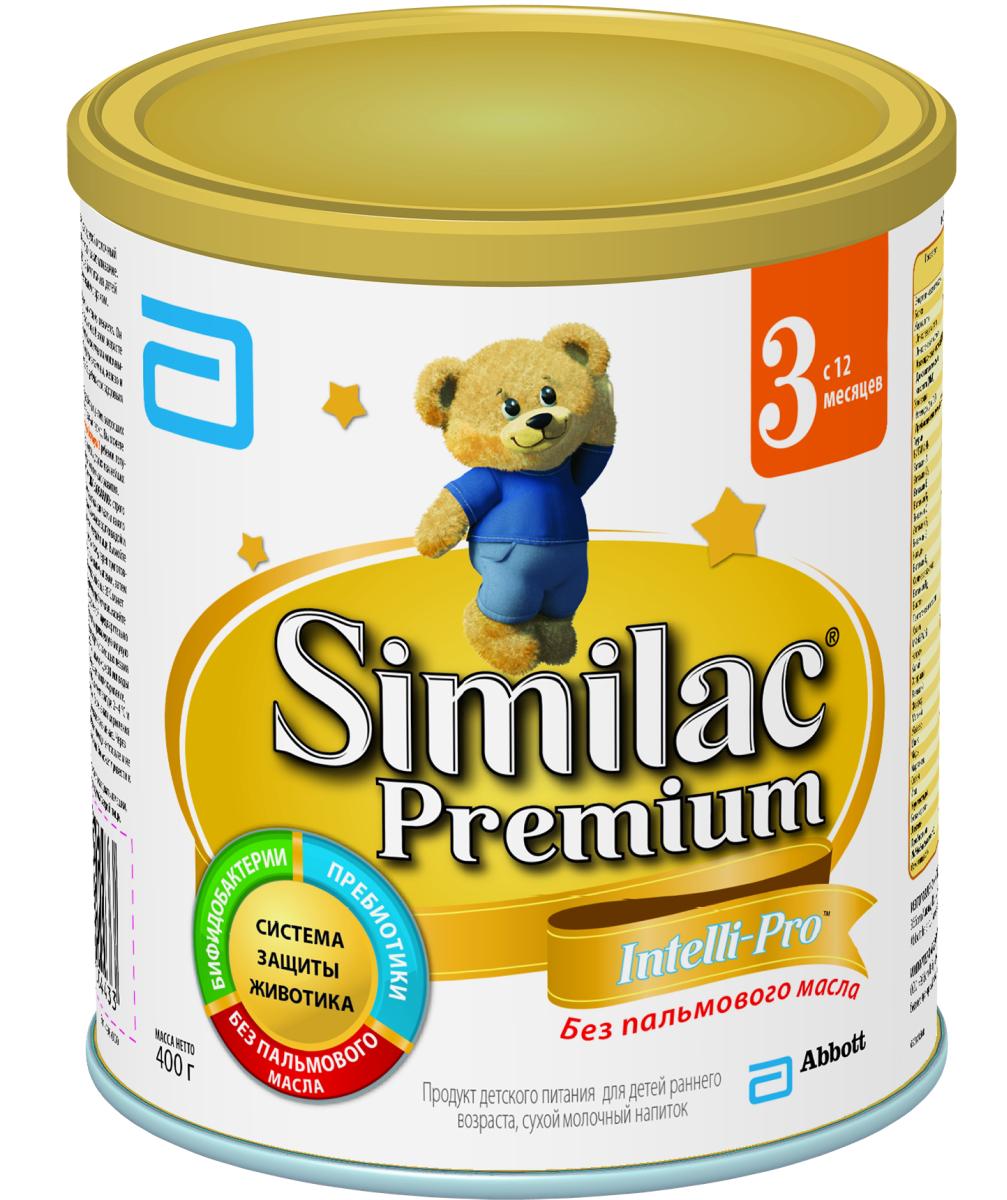 Similak Премиум 3 напиток молочный с 12 месяцев, 400 г20027647Сухой молочный напиток для детей раннего возраста без пальмового масла, максимально приближенный по составу к грудному молоку.Уникальный состав с Системой Защиты Животика и Комплексом для развития мозга и зрения. Система защиты животикаБез пальмового маслаСпособствует формированию мягкого стулаПребиотикиПомогают формированию здоровой собственной микрофлоры кишечника и мягкого стулаПробиотикиЖивые бифидобактерии B.lactis (BL) поддерживают здоровую микрофлору кишечника. Развитие головного мозга и зренияУникальный комплекс «IQ Intelli-Pro»Содержит набор важных компонентов для развития мозга и зрения, в т.ч. Омега-3 (DHA) и Омега-6 (ARA) жирные кислоты, а также Лютеин.ЛютеинАнтиоксидант, входящий в состав грудного молока, важный для здоровья глаз. Лютеин не вырабатывается в организме, поэтому малыш может получить его только с питанием. Развитие иммунитетаВсесторонняя поддержка иммунной системы благодаря научно разработанному комплексу вещeств:Сочетание пребиотиков и бифидобактерий поддерживает естественные защитные функции организмаНуклеотиды способствуют развитию иммунной системы. Здоровый ростСмесь без пальмового масла способствует лучшему усвоению кальция для формирования крепких костей и здоровых зубовКомплекс витаминов и минералов для здорового роста малыша.