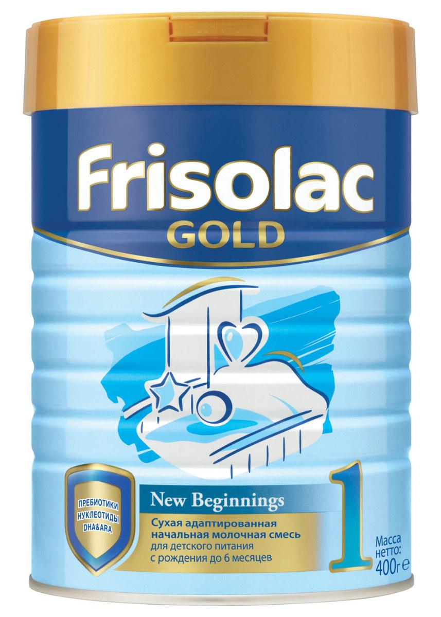 Friso Фрисолак Голд 1 с пребиотиками смесь молочная с 0 месяцев, 400 г молочная смесь friso фрисолак 1 с рождения 700 гр