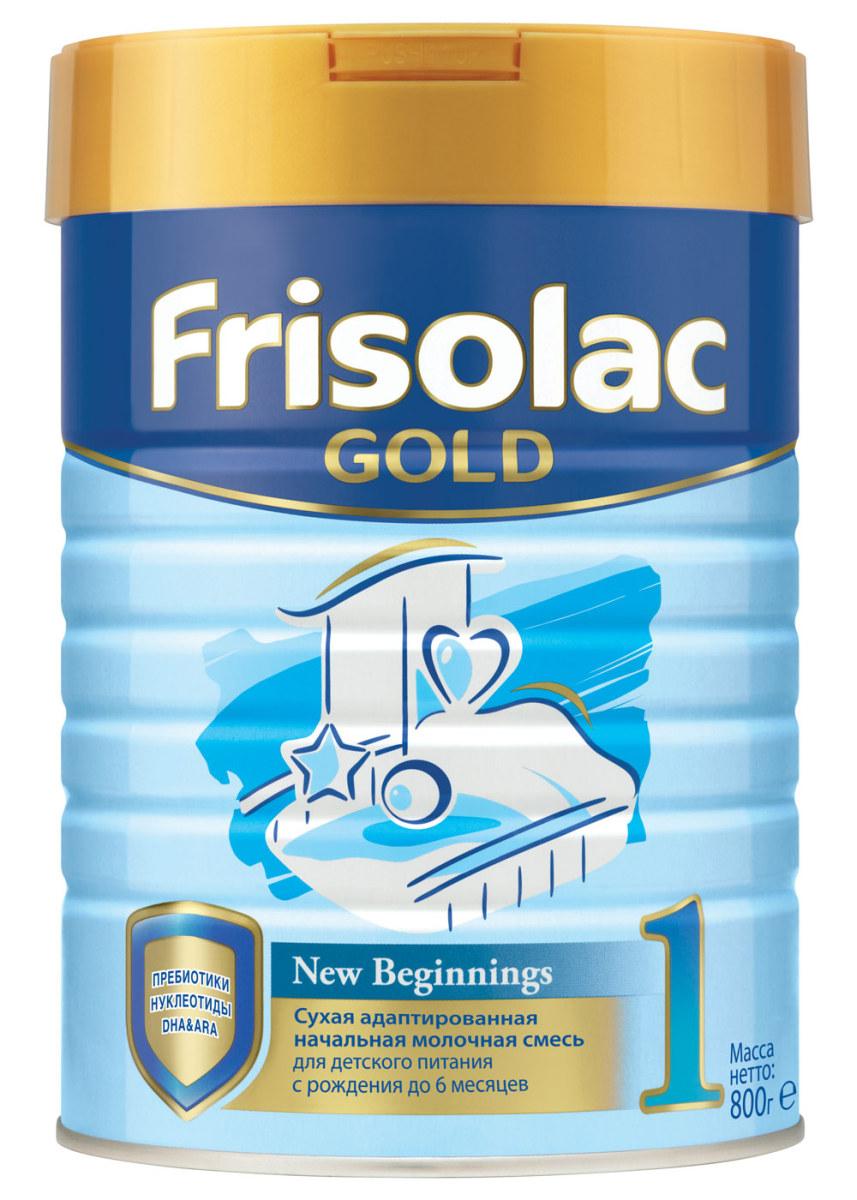 Friso Фрисолак Голд 1 с пребиотиками смесь молочная с 0 месяцев, 800 г молочная смесь friso фрисолак 2 с 6 мес 700 гр