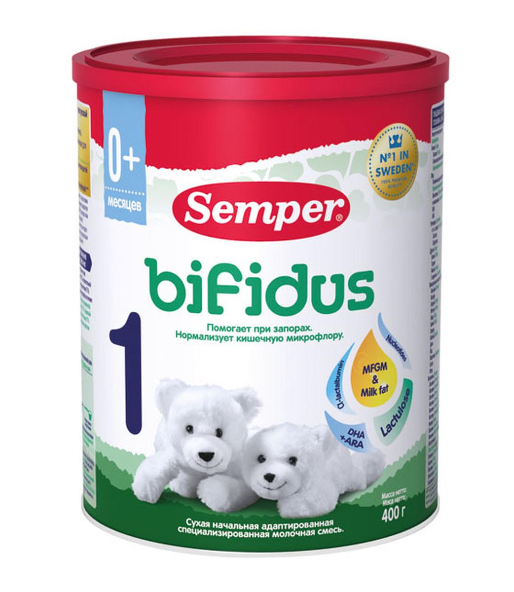 Semper Bifidus 1 смесь молочная с 0 месяцев, 400 г молочные смеси semper молочная смесь bifidus nutradefense 1 0 6 мес 400 г