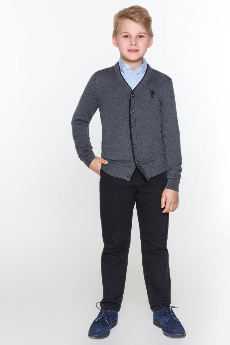 Кофта для мальчика Acoola Lincoln, цвет: темно-серый. 20100130009_2000. Размер 158