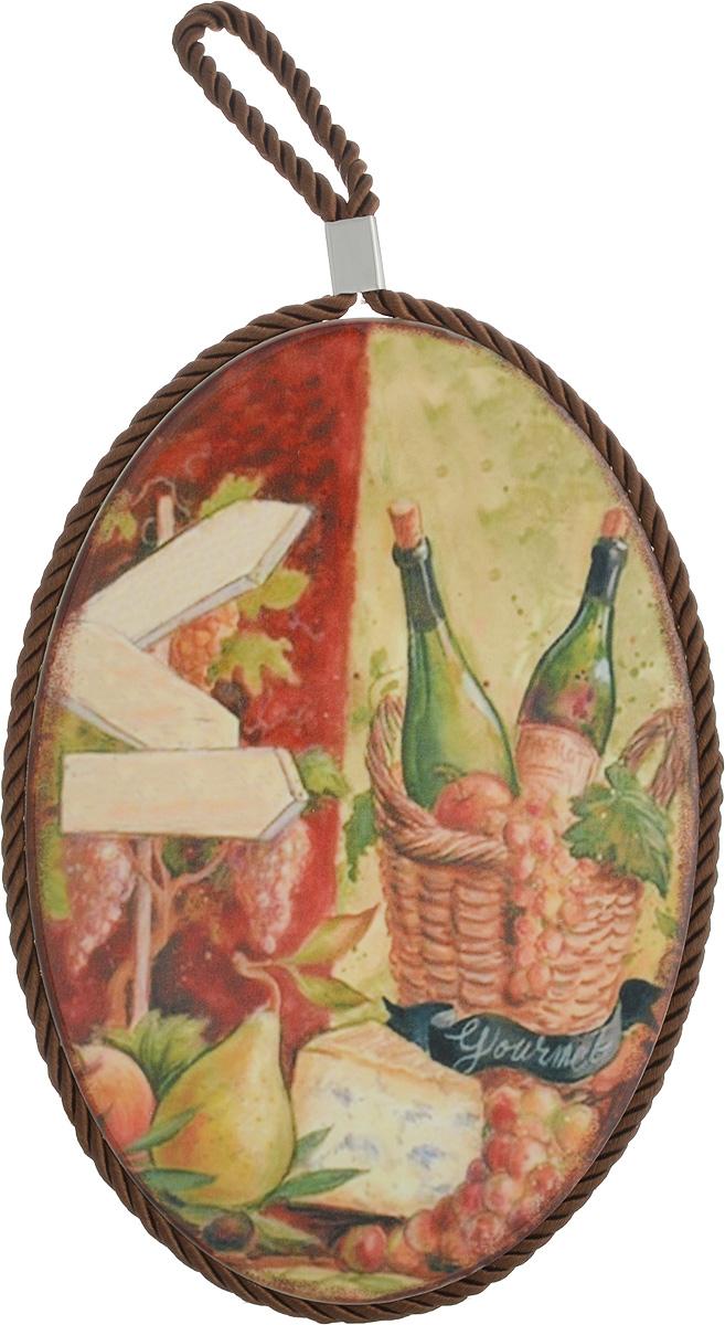 Подставка под горячее Elan Gallery Натюрморт с сыром, 13,5 см х 19,5 см220079Подставка под горячее Elan Gallery Натюрморт с сыром, выполненная из высококачественной керамики, идеально подойдет для предохранения вашего стола от воздействия высоких температур. Изделие декорировано цветным шнурком с петелькой для подвешивания. Дно, выполненное из пробки, не даст подставке скользить по поверхности стола.Такая подставка украсит интерьер вашей кухни и подчеркнет прекрасный вкус хозяина, а также станет отличным подарком. Размеры подставки: 13,5 см х 19,5 см х 1 см.