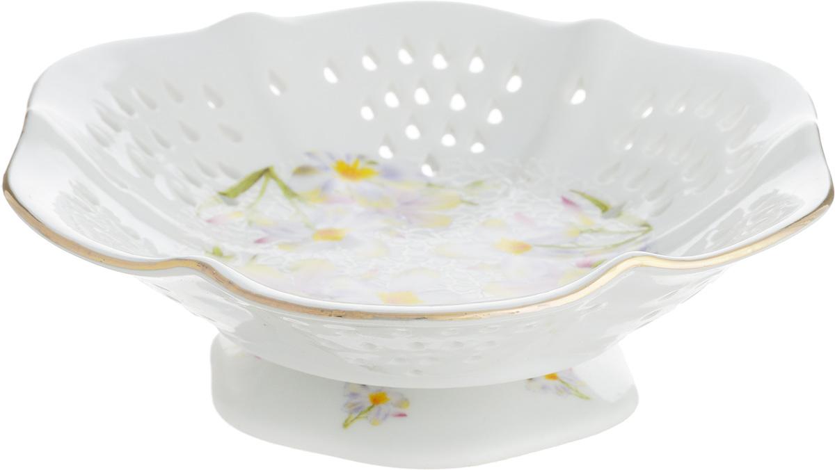 Конфетница Белые нарциссы, диаметр 15 см конфетницы briswild конфетница магнолия 27 см