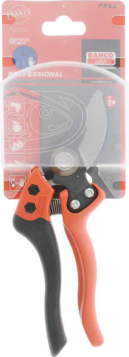 Секатор Bahco предназначен для работы в саду. Прижимная пружина защелкивает ручки и делает переноску инструмента более удобной. Характеристики: Материал: сталь, резина, стеклопластик. Размеры секатора: 21 см х 7 см х 2 см. Размеры ручки: 14 см х 7 см х 2 см. Размер упаковки: 28 см x 9,5 см x 2 см.