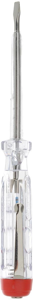 Отвертка-тестер Bahco, 150-250 В806-1-1Отвертка-тестер Bahco имеет стержень с хромоникелевым покрытием и изоляцией до жала. Инструмент снабжен зажимом и сигнальной лампой. Характеристики: Материал: пластик, металл. Размеры отвертки: 14 см х 1,5 см х 1,5 см. Размеры ручки: 7,5 см х 1,5 см х 1,5 см. Размеры основания: 6,5 см х 0,6 см х 0,6 см. Размеры жала: 0,3 см х 0,1 см. Размеры упаковки:24,5 см х 6,5 см х 1,5 см.