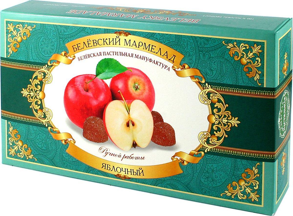 Белевская пастильная мануфактура Белевский мармелад яблочный, 280 гBPM393Белевский мармелад – сладкое лакомство, получаемое из пюре и мякоти фруктов с добавлением загустителя. Идеальным считается мармелад, в котором роль загустителя играет пектин. Это натуральное вещество, содержащееся во фруктах естественным образом. Натуральный мармелад, изготовленный с использованием пектина, не требует участия каких-либо искусственных добавок, поскольку пектин выполняет функции загустителя, осветлителя, желирующего агента и стабилизатора одновременно. В результате для производства мармелада требуются лишь фрукты и сахар. Пектин обладает бактерицидным действием, улучшает пищеварение и нормализует микрофлору кишечника. Попадая в организм, пектин связывает находящиеся в нем вредные токсичные вещества и способствует их скорейшему выведению. Кроме того, пектин обладает свойством снижать уровень холестерина, являясь профилактикой онкологических заболеваний. Пектин показан к употреблению людям, страдающим сахарным диабетом, поскольку способен снижать скорость увеличения содержания глюкозы в крови.