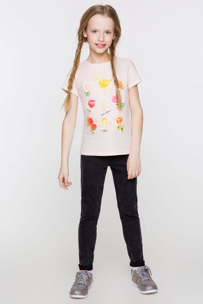 Футболка для девочки Acoola Peso, цвет: персиковый. 20210110103_4400. Размер 164 футболка с длинным рукавом для девочки acoola avon цвет светло розовый 20210100132 размер 164