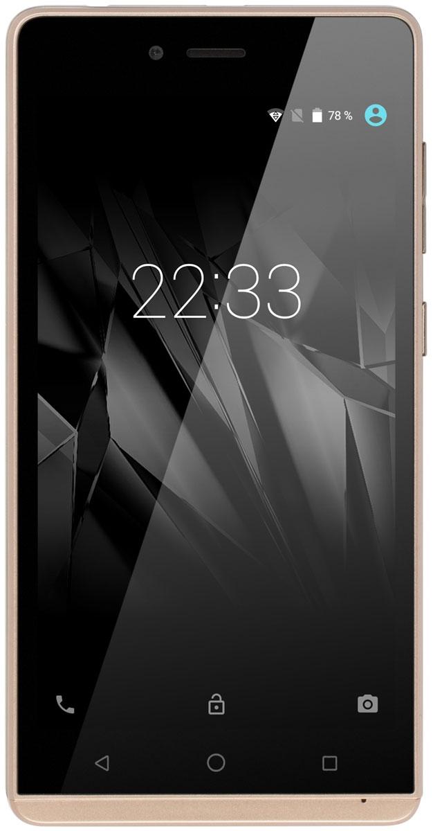 Micromax Q354, ChampagneT028375Micromax Q354 - прекрасный пример того, насколько удачным может быть простой дизайн: округлые грани корпуса и стильная рамка вокруг дисплея - полная гармония плавных линий. Ничего лишнего.Телефон прекрасно смотрится и удобно лежит в руках, благодаря чему будет вам приносить как практическое, так и эстетическое удовольствие.Загрузите любимые клипы и фильмы, и наслаждайтесь ими на большом и ярком 5-дюймовом экране! Также Micromax Q354 можно использовать и в качестве читалки, ведь дисплей имеет подходящие для этого размеры, а его высокое разрешение позволяет рассмотреть даже самый мелкий шрифт.Micromax Q354 оснащен всем необходимым программным и технологическим арсеналом, чтобы вы могли смотреть потоковое видео онлайн, делать селфи с друзьями и делиться ими во всех популярных социальных сетях.Смартфон поддерживает одновременную работу сразу двух сим-карт, поэтому вы сможете значительно экономить на мобильной связи и интернете. Скомбинируйте лучшие предложения разных сотовых операторов и получите максимум выгоды.Представленная модель оснащена встроенным FM-приёмником, поэтому вы сможете наслаждаться музыкой и быть в курсе всех мировых событий даже без подключения к интернету. Достаточно лишь подключить наушники для лучшего приёма.Объема встроенной памяти в 8 Гб достаточно для большинства повседневных задач, но если же вы решите сделать из Micromax Q354 настоящую мультимедийную библиотеку - не беда, ведь смартфон поддерживает карты памяти до 32 Гб. Волноваться о недостатке места при таком объеме хранилища точно не придется!Телефон сертифицирован EAC и имеет русифицированный интерфейс меню и Руководство пользователя.