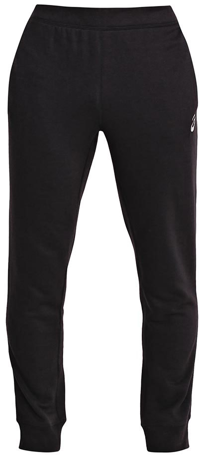 Брюки спортивные мужские Asics Essentials Pant, цвет: черный. 134795-0904. Размер S (46)134795-0904Спортивные мужские брюки Asics Essentials Pant выполнены из полиэстера с добавлением вискозы. Комфортные плоские швы предотвращаются натирание. Модель имеет широкую резинку на поясе, объем талии регулируется при помощи шнурка-кулиски. Брюки дополнены двумя открытыми втачными карманами спереди и накладным карманом сзади. Брючины дополнены эластичными манжетами по низу.
