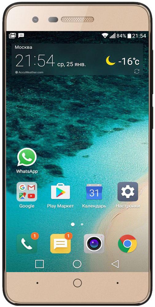 Micromax Q3551, Gold купить телефон в мегафоне по акции смартфон