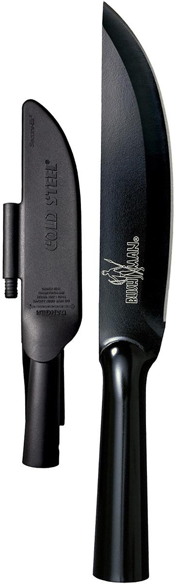 Нож туристический Cold Steel Bushman, длина клинка 7CS/95BUSKZДрузья бомба для поклонников холодного оружия применение расширенное даже в качестве копья полая рукоять способствует, на кухне, резать все подряд, для работы. Не скажу что подобен скальпелю, сталь СК-5 высоко углеродная, прочный металл. Начнем длина общая Бушмана 31.12, лезвие 17.78 сантиметров, полая рукоять дает возможность трансформировать в разнообразные предметы войны. Отсутствие съемных частей в нем придет простоты и в то же время ужаса. При нагрузке выдерживает машину двух тонн. Имеется темлячные отверстия удобно в эксплуатации ножа. Устойчивость к коррозии. Вес 278 грамм идеально. Дачники от будут балдеть, подарите мужику инструмент и посмотрите радость вашего ребенка с бородой.Харизма у ножа такая что он должен быть у мужчины для работы и подойдет для женщины в работе по кухне. Интересные пластмассовые ножны удобные в ношении. Рассказал хозяин Бушмана: как то ездил на озеро нож во всем помогал в частности нарезания, рубке мяса кабана которого он завалил именно этим клинком модернизировавшего его в копье, правда повредил и свою ногу, рубке веток, дров для костра, чистке рыбы. Разговаривал с ним и одни положительные эмоции выплёскиваются от него последние и самые запомнившиеся слова были «это мой помощник, защитник и товарищ».Оценка 5+ Минусов тупо нет при всей своей глупости создания ручки «тяпки» это превосходное изделие команды Линна Томпсона, самое то что сделали они это обширное применение этому не каждый может похвастаться. Цена не дорогая взять все плюсы невзрачного красавца выручит в любой ситуации, смотрите видео в интернете. Нож не является холодным оружием. Отличный для загородного отдыха. Впервые конечно вижу такое решение для создания ножа, у других фирм не видел если только не брать обычную лопату, правда сельский инструмент не выдержит несколько тонн на себе. Берите, покупайте может показаться что он смешной что ли, но не смотрите на красоту в работоспособности и обширности он многи