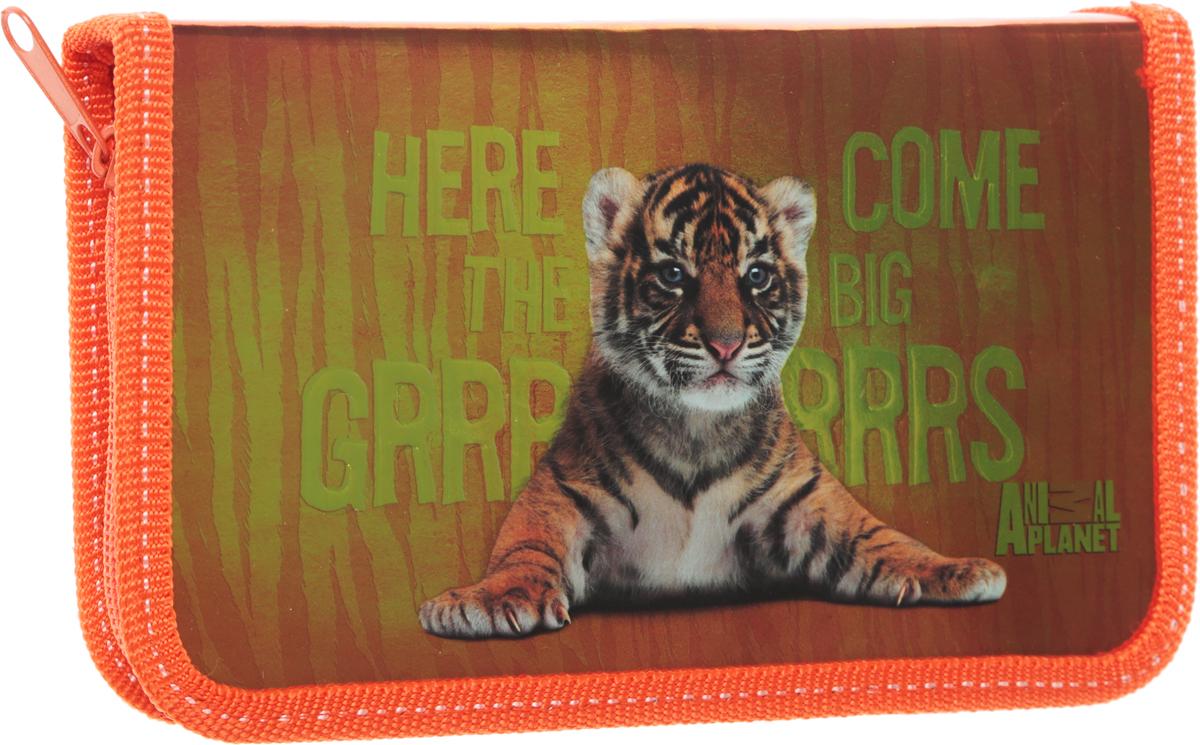 Action! Пенал Animal Planet цвет оранжевыйC32138/AP-PC01-03 оранжевыйПенал Action! Animal Planet  станет не только практичным, но и стильным аксессуаром для любого школьника. Пенал прямоугольной формы выполнен из прочного материала и состоит из одного вместительного отделения, закрывающегося на застежку-молнию. Пенал оформлен принтом с изображением тигренка.Такой пенал станет незаменимым помощником для школьника, с ним ручки и карандаши всегда будут под рукой и больше не потеряются.