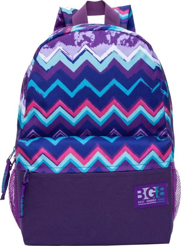 Рюкзак городской женский Grizzly, цвет: фиолетовый, 11,9 лRD-750-1Рюкзак Grizzly выполнен из высококачественного полиэстера и оформлен оригинальным принтом. Изделие имеетодно отделение, объемный карман на молнии на передней стенке, боковые карманы из сетки, внутренний карман, укрепленную спинку, карман быстрого доступа на задней стенке, дополнительную ручку-петлю и укрепленные лямки.