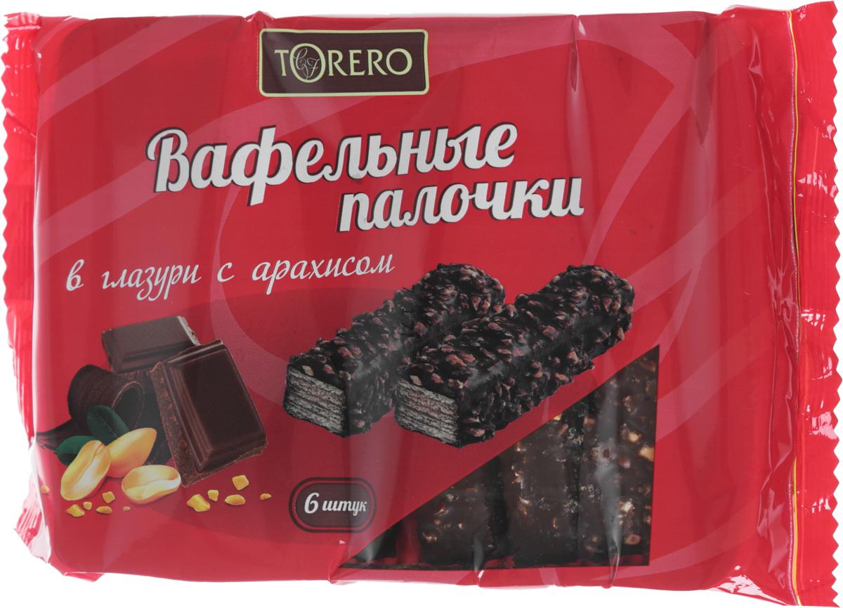 Тореро вафельные палочки в глазури с арахисом, 220 г тореро вафельные коржи для торта темные 120 г