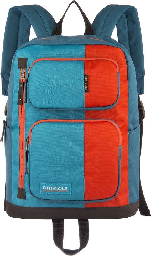 Рюкзак городской мужской Grizzly, цвет: голубой, 11,9 лRU-619-1Рюкзак Grizzly выполнен из высококачественного таслана. Изделие имеет одно отделение, два объемных кармана на молнии на передней стенке, 2 боковых кармана, внутренний карман на молнии, внутренний укрепленный карман для ноутбука, укрепленную спинку, карман быстрого доступа в передней части рюкзака, карман быстрого доступа на задней стенке, дополнительную ручку-петлю и укрепленные лямки.