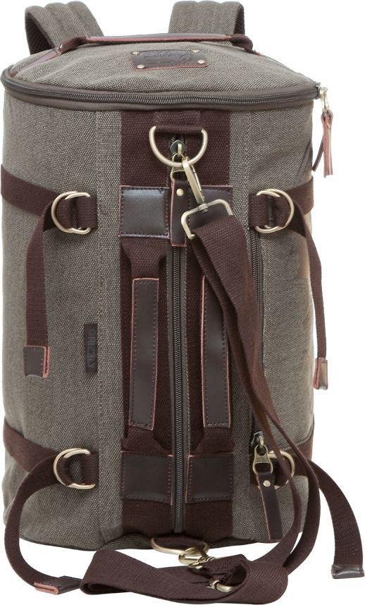 Рюкзак городской мужской Grizzly, цвет: коричневый, 18,3 лRU-620-2Изделие Grizzly выполнено из высококачественного брезента. Рюкзак-трансформер может использоваться как сумка. Изделиеимеет одно отделение, карман на молнии на передней стенке, боковые стяжки-фиксаторы, внутренний карман на молнии, внутренний укрепленный карман для ноутбука, укрепленную спинку, дополнительную ручку-петлю и укрепленные лямки.