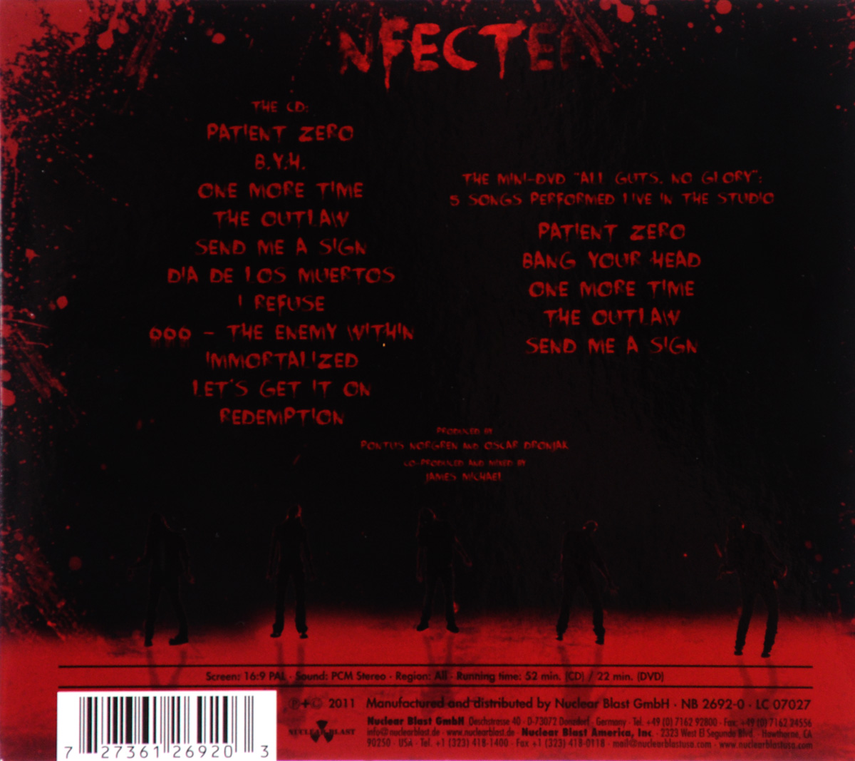 Hammerfall:  Infected (DVD + CD) Nuclear Blast Records