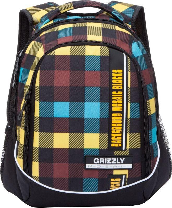 Рюкзак городской мужской Grizzly, цвет: желтый, 12,3 лRU-707-5Рюкзак Grizzly выполнен из высококачественного полиэстера и оформлен клетчатым принтом. Изделие имеетдва отделения, боковые карманы из сетки, внутренний карман на молнии, внутренний карман-пенал для карандашей, жесткую анатомическую спинку, мягкую укрепленную ручку и укрепленные лямки.