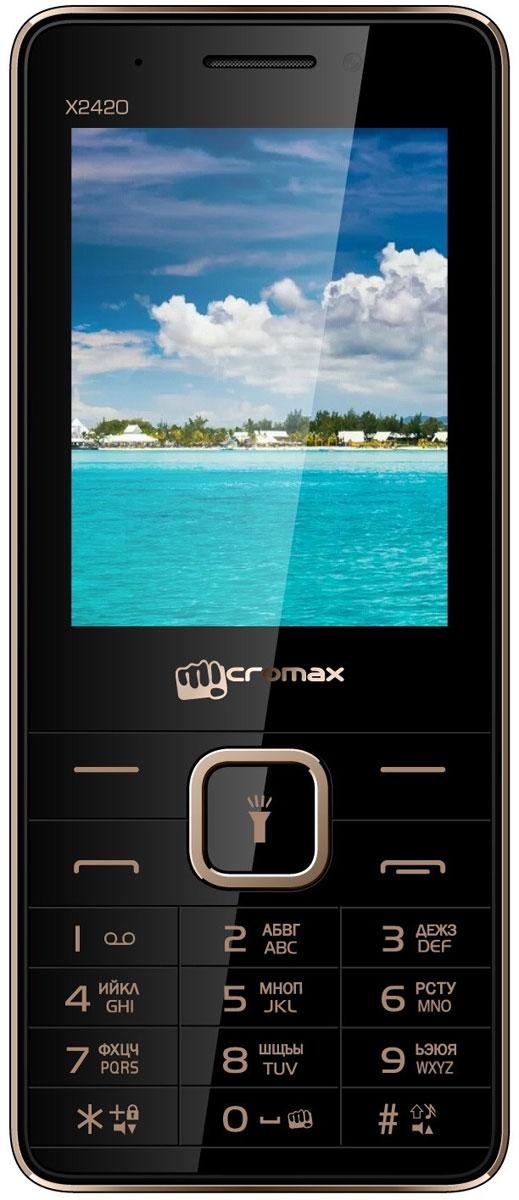 Micromax X2420, Black Champagne сотовый телефон micromax q409 champagne