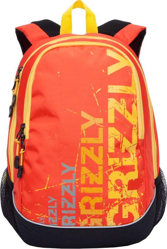 Рюкзак городской мужской Grizzly, цвет: черный, оранжевый, 11,1 лRU-721-1Рюкзак Grizzly выполнен из высококачественного полиэстера и оформлен оригинальным принтом. Изделие имеет два отделения, боковые карманы из сетки, анатомическую спинку, дополнительную ручку-петлю и укрепленные лямки. Внутри расположен карман-пенал для карандашей и подвесной карман на молнии.