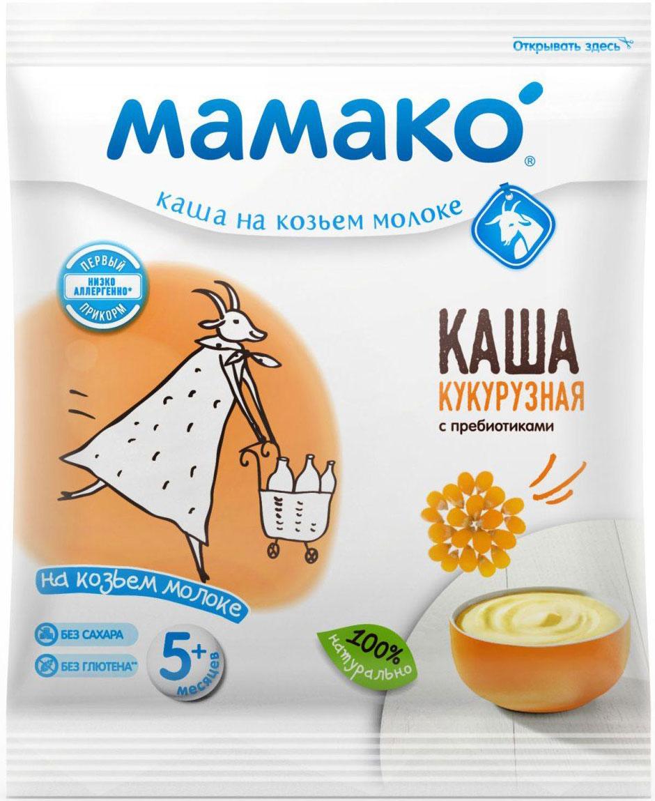 Мамако каша кукурузная с пребиотиками на козьем молоке, 30 г, Детское питание  - купить со скидкой