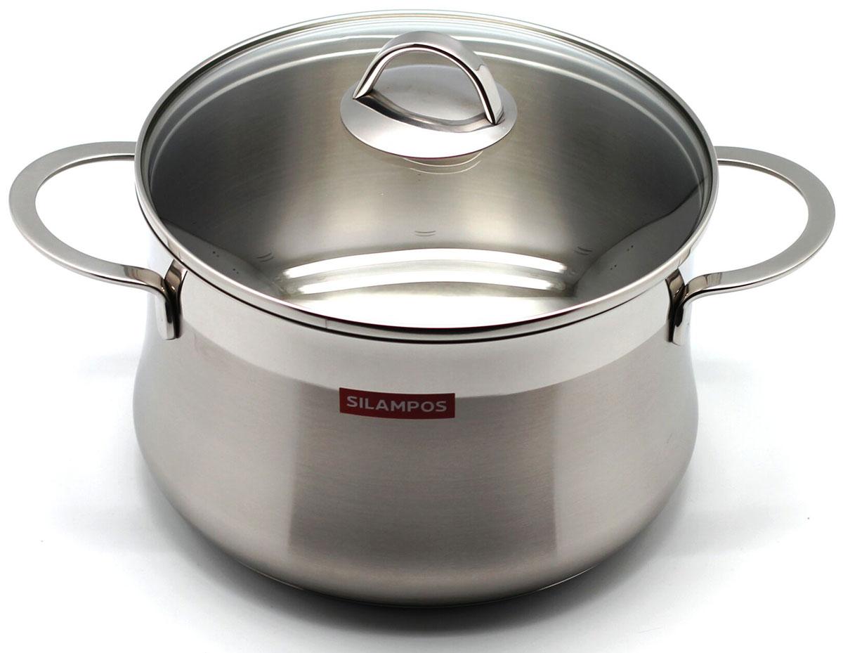 Кастрюля Silampos  Эмоция  с крышкой, 5,2 л, диаметр 22 см - Посуда для приготовления