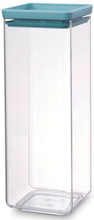 Контейнер для сыпучих продуктов Brabantia Tasty Colors, 2,5 л. 290107290107Занимает мало места – контейнеры имеют прямоугольную форму и составляются один на другой. Продукты надолго сохраняют свежесть и аромат – силиконовый уплотнитель. Хорошо видно содержимое и его количество. Легко моется – можно мыть в посудомоечной машине. Прочный и абсолютно прозрачный – изготовлен из пластика. Входит в коллекцию «Tasty Colours».