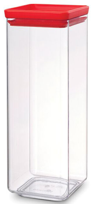 Контейнер для сыпучих продуктов Brabantia Tasty Colors, 2,5 л. 290046290046Занимает мало места – контейнеры имеют прямоугольную форму и составляются один на другой. Продукты надолго сохраняют свежесть и аромат – силиконовый уплотнитель. Хорошо видно содержимое и его количество. Легко моется – можно мыть в посудомоечной машине. Прочный и абсолютно прозрачный – изготовлен из пластика. Входит в коллекцию «Tasty Colours».
