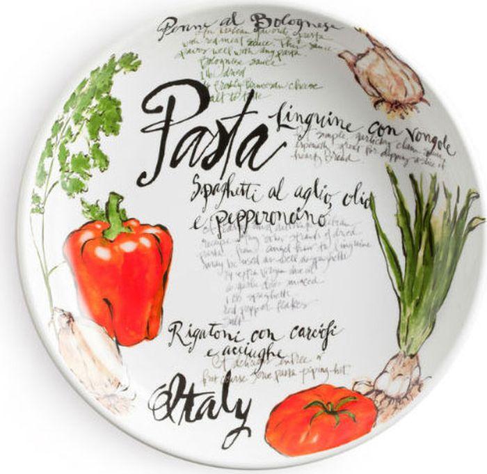 """Ваза для пасты Rosanna """"Pasta Italiana """" выполнена из фарфора. Имеется глазурованное покрытие.  Ваза выполнена в нежных цветах. Красивый необычный дизайн.  Высота вазы составляет 6,4 см."""
