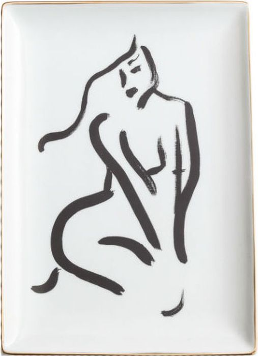 Поднос декоративный Rosanna Nude Sitting Front 96186