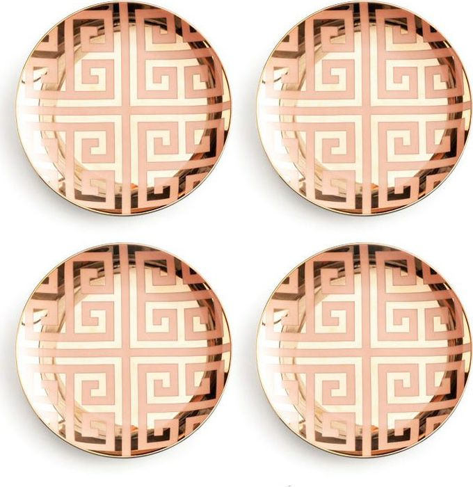 Набор тарелок Rosanna Greek Key Pink & Gold, 4 шт kj dover greek homosexuality paper obe