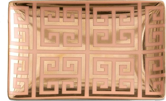 Поднос Rosanna Greek Key. 9653296532Поднос Rosanna, изготовленный из настоящего фарфора в изысканных расцветках, станет незаменимым предметом для сервировки стола и не оставит ни одну хозяйку равнодушной.Не рекомендуется использовать в микроволновой печи во избежание появления трещин.