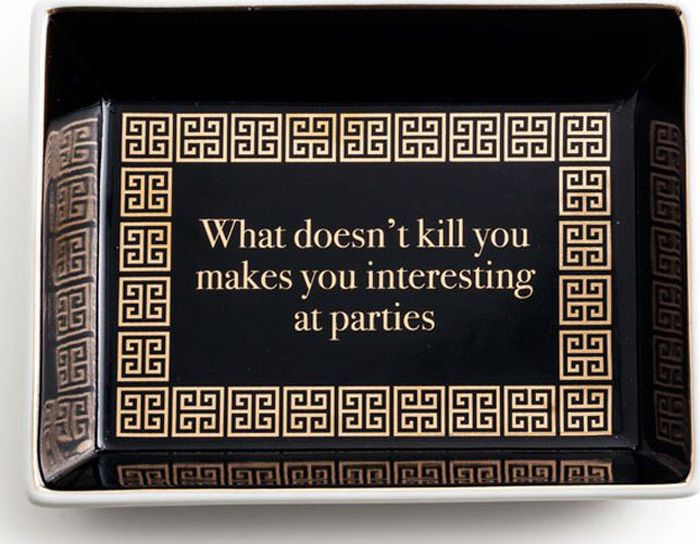 Поднос Rosanna What Doesnt Kill You Makes You Interesting At Parties96540