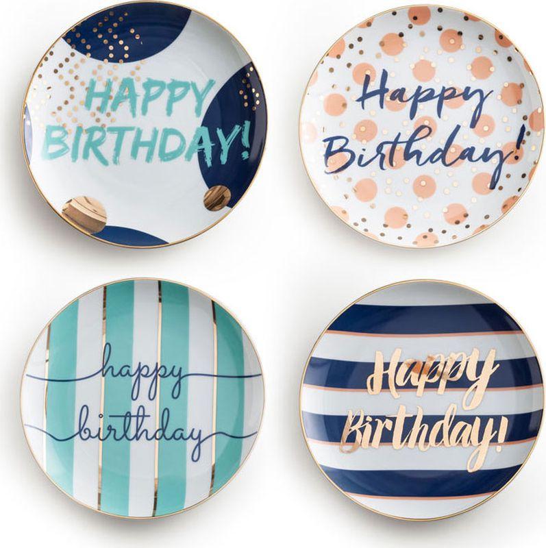 Набор тарелок Rosanna Happy Birthday, 4 шт. 96549 гирлянда алфавит винни happy birthday