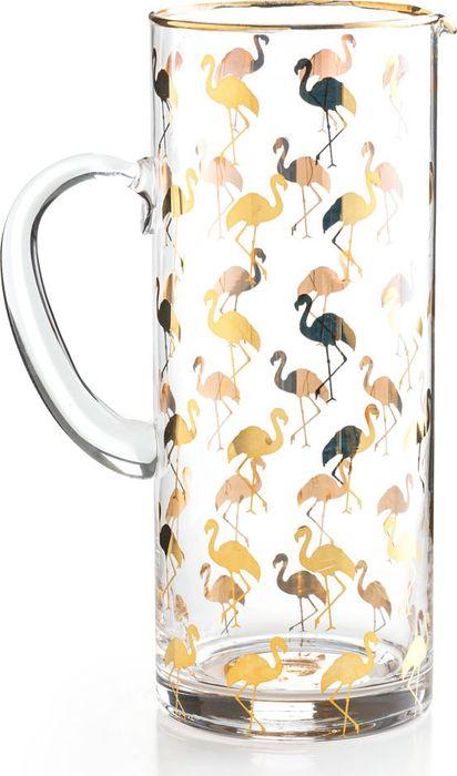 Кувшин Rosanna Flamingo440270BКувшин Rosanna Flamingo изготовлен из высококачественного стекла и декорированоригинальным узором. В таком кувшине будет удобно хранить и подавать на стол молоко, сокиили воду.Оригинальный дизайн кувшина позволит украсить любую кухню, внеся разнообразие, как в строгийклассический стиль, так и в современный кухонный интерьер.